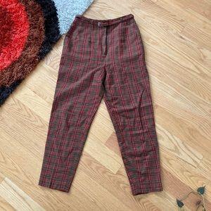 Pants - Vintage wool plaid trousers